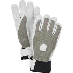 Hestra Army Leather Patrol 5-Finger Handschuhe Damen light grey